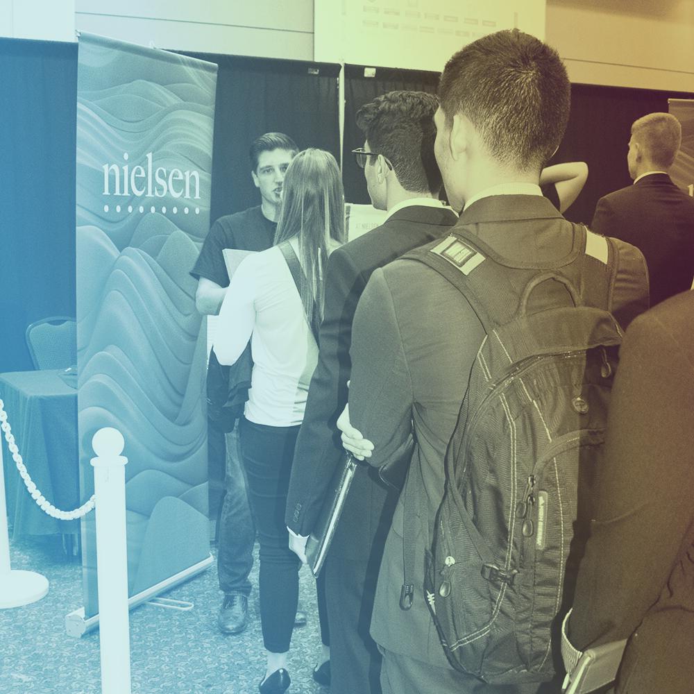 Nielsen at the Spring 2019 career fair
